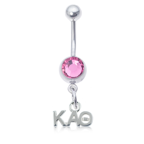 Kappa Alpha Theta Pink Belly Button Ring