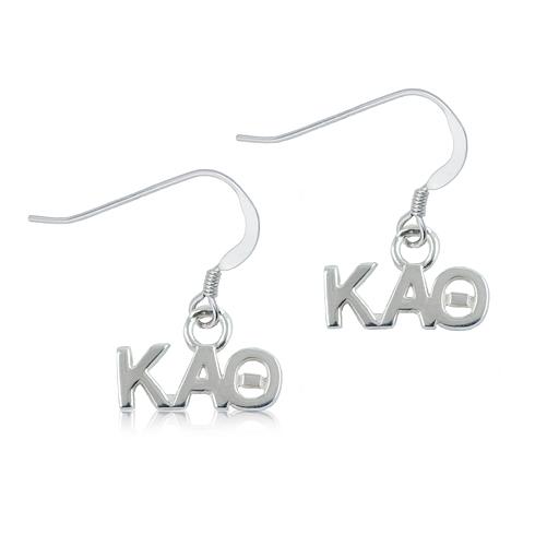Sterling Silver Kappa Alpha Theta Dangle Earrings