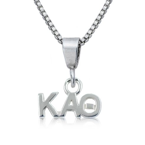 Sterling Silver 16in Kappa Alpha Theta Charm Necklace