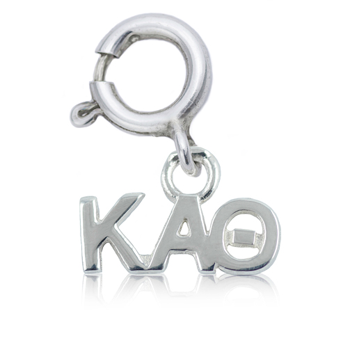 Sterling Silver Kappa Alpha Theta Charm