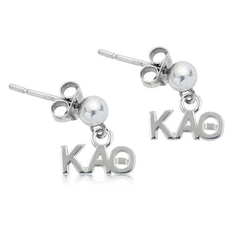 Sterling Silver Kappa Alpha Theta Post Earrings