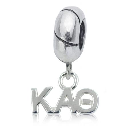 Sterling Silver Kappa Alpha Theta Charm Bead