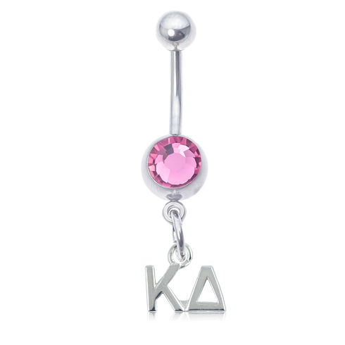 Kappa Delta Pink Belly Button Ring