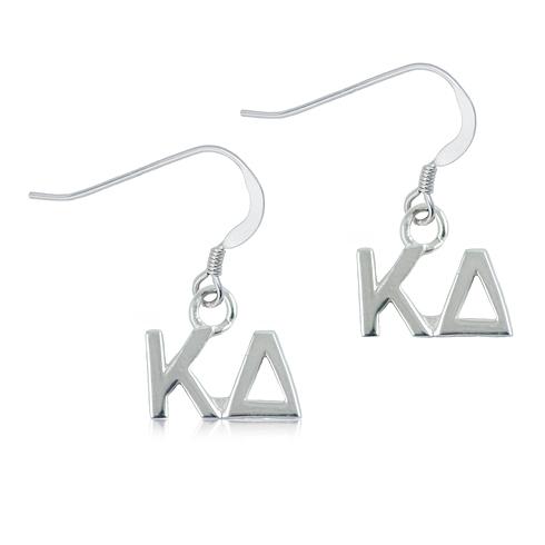 Sterling Silver Kappa Delta Dangle Earrings