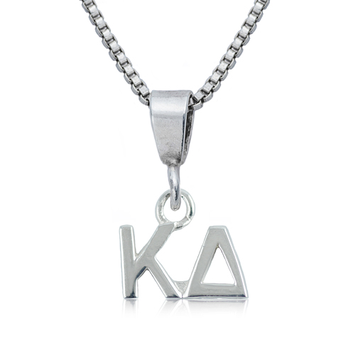 Sterling Silver 16in Kappa Delta Charm Necklace