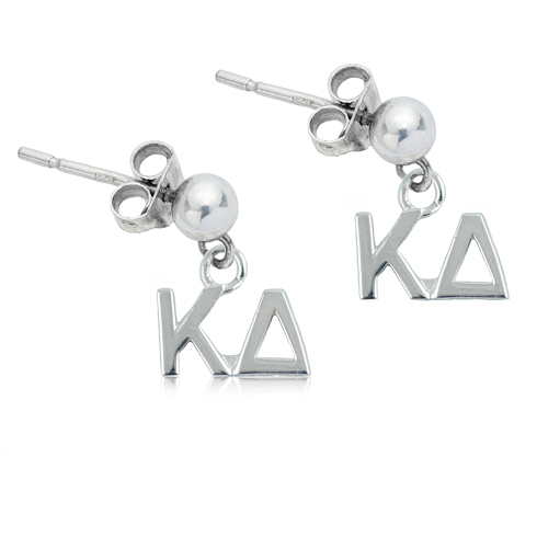 Sterling Silver Kappa Delta Post Earrings