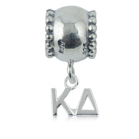 Sterling Silver Kappa Delta Daisy Charm Bead