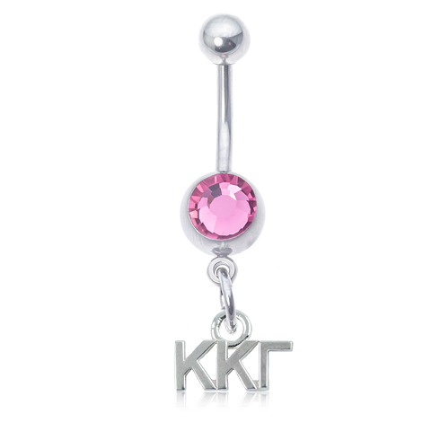 Kappa Kappa Gamma Pink Belly Button Ring