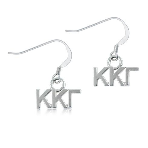 Sterling Silver Kappa Kappa Gamma Dangle Earrings
