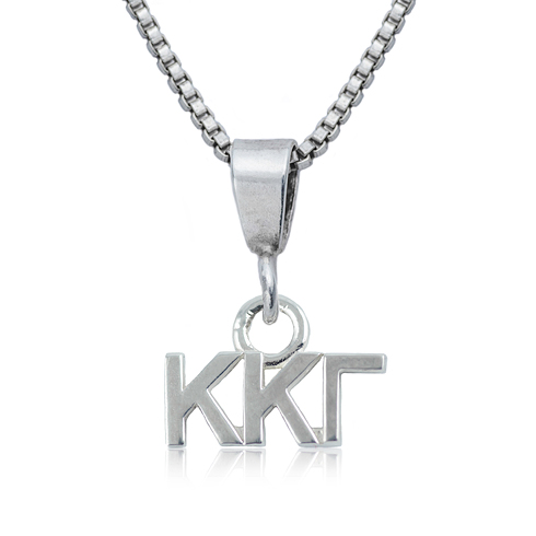 Sterling Silver 16in Kappa Kappa Gamma Charm Necklace