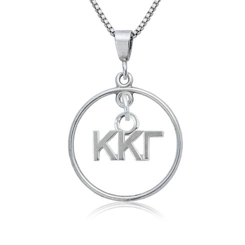Sterling Silver 16in Kappa Kappa Gamma Open Drop Necklace
