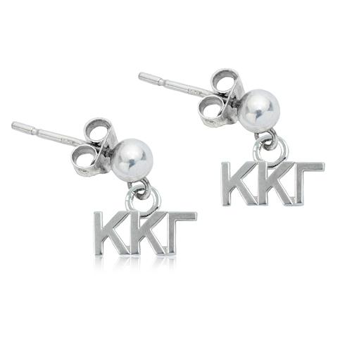 Sterling Silver Kappa Kappa Gamma Post Earrings