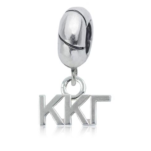Sterling Silver Kappa Kappa Gamma Charm Bead