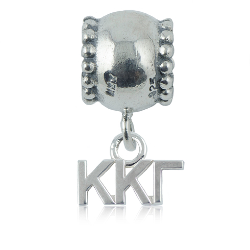 Sterling Silver Kappa Kappa Gamma Daisy Charm Bead