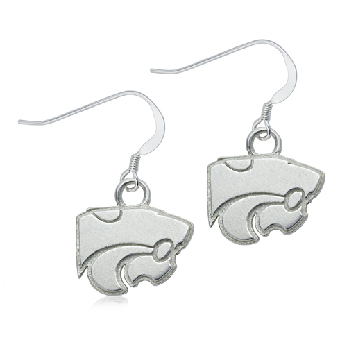 Sterling Silver Kansas State University Dangle Earrings