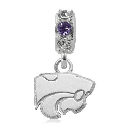 Sterling Silver Kansas State University Spirit Charm Bead