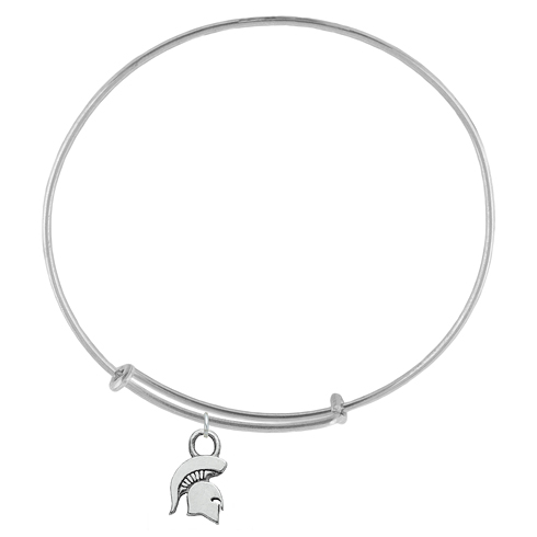 Sterling Silver Michigan State University Charm Adjustable Bracelet