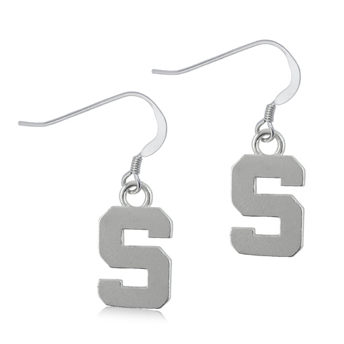 Sterling Silver Michigan State University S Dangle Earrings