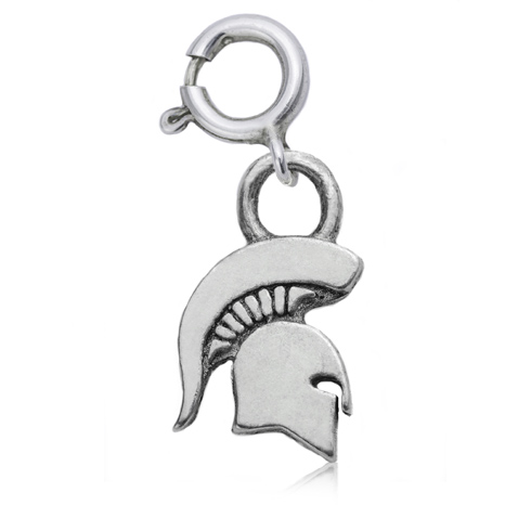Sterling Silver 3/8in Michigan State University Spartan Charm