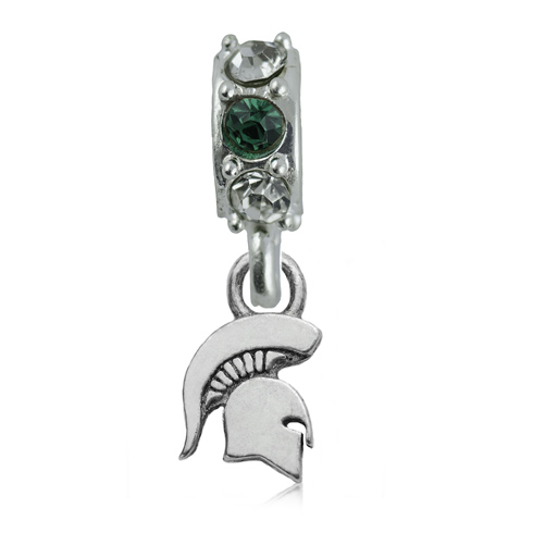 Sterling Silver Michigan State University Spartan Spirit Charm Bead