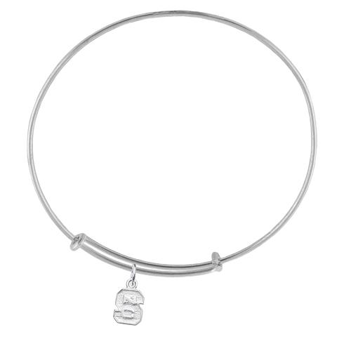 Sterling Silver NC State Charm Adjustable Bracelet