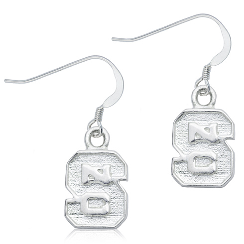 Sterling Silver North Carolina State Dangle Earrings