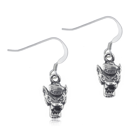 Sterling Silver NC State University Dangle Earrings