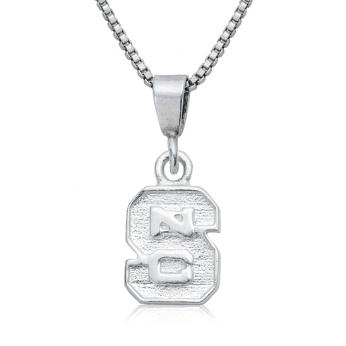 Sterling Silver NC State University Charm Necklace