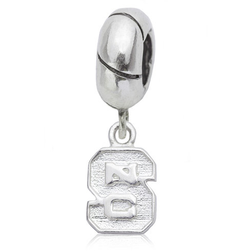 Sterling Silver North Carolina State University Charm Bead