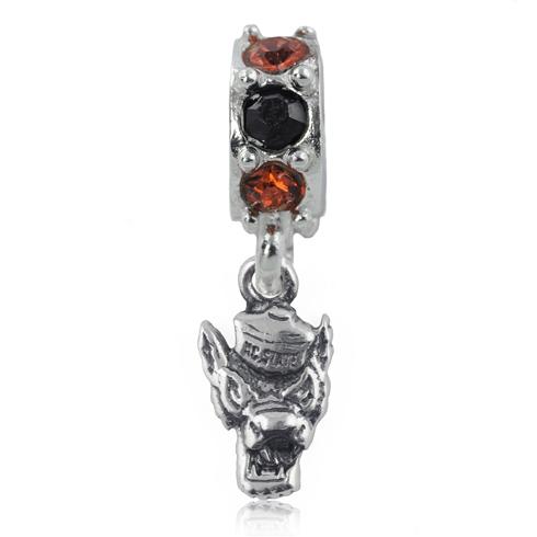 Sterling Silver NC State University Mascot Spirit Charm Bead