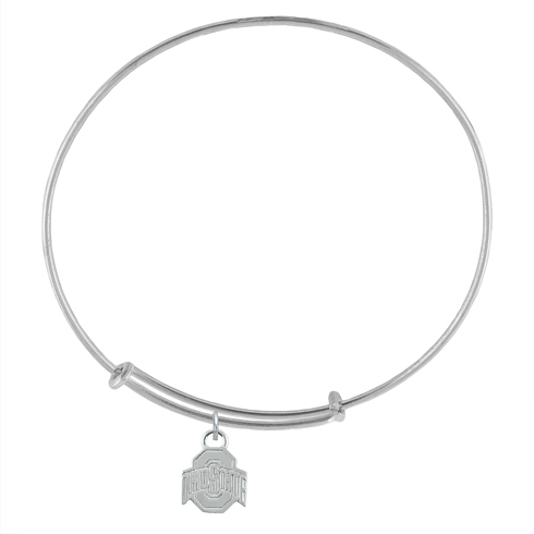 Sterling Silver Ohio State Charm Adjustable Bracelet