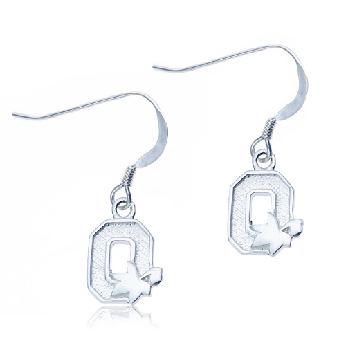 Sterling Silver Ohio State University Dangle Earrings