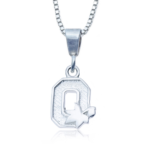 Sterling Silver 16in Charm Ohio State Necklace