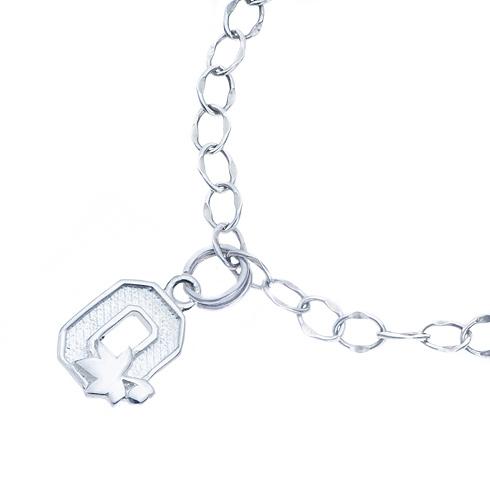 Sterling Silver Ohio State University Charm Bracelet