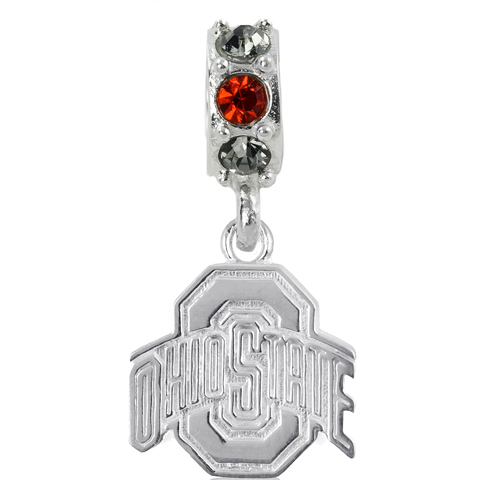 Sterling Silver Ohio State University Spirit Charm Bead