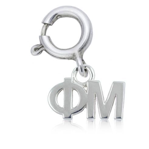 Sterling Silver Phi Mu Charm