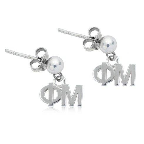 Sterling Silver Phi Mu Post Earrings