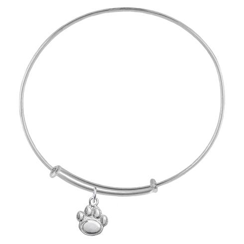 Sterling Silver Penn State Charm Adjustable Bracelet