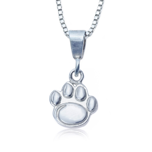 Sterling Silver 16in Charm Penn State Necklace