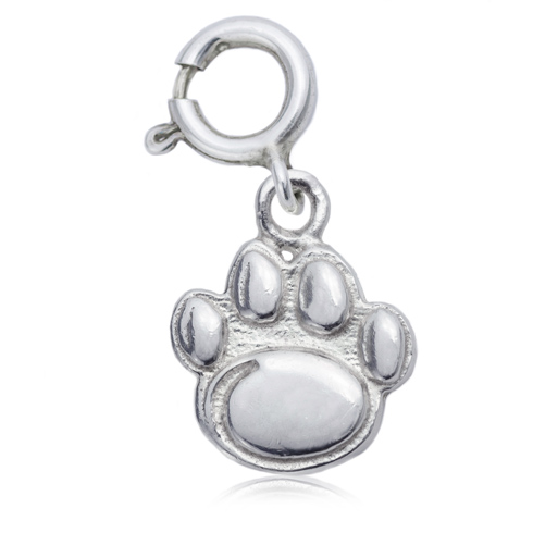 Sterling Silver 3/8in Penn State University Paw Charm