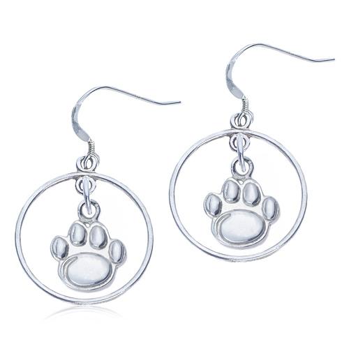 Sterling Silver Open Drop Penn State Earrings