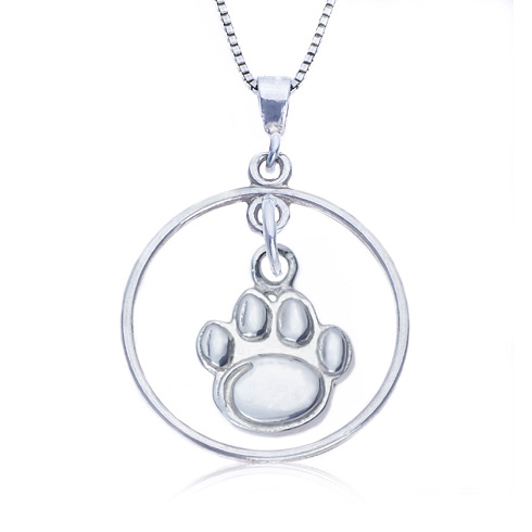 Sterling Silver 16in Open Drop Penn State Necklace