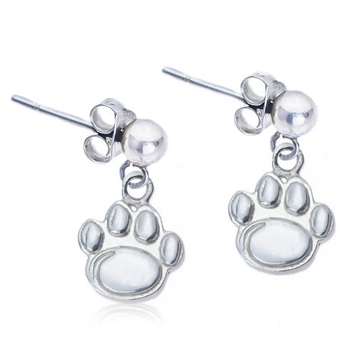 Sterling Silver Post Dangle Penn State Earrings