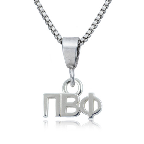 Sterling Silver 16in Pi Beta Phi Charm Necklace