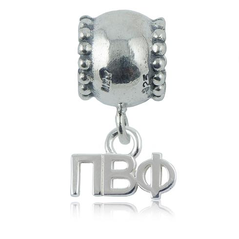 Sterling Silver Pi Beta Phi Daisy Charm Bead