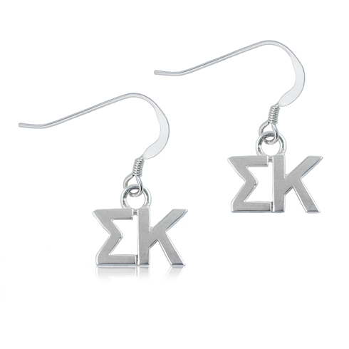 Sterling Silver Sigma Kappa Dangle Earrings