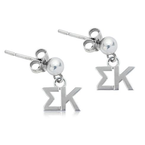 Sterling Silver Sigma Kappa Post Earrings