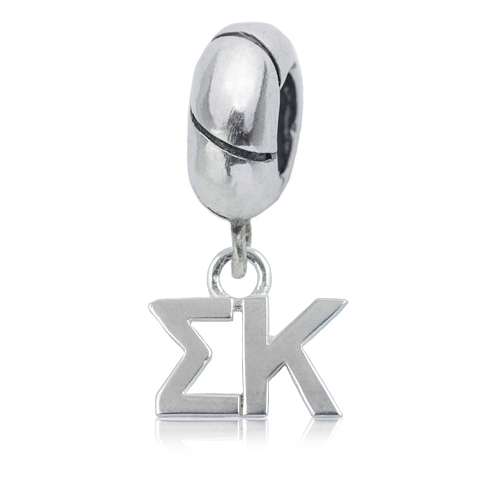 Sterling Silver Sigma Kappa Charm Bead