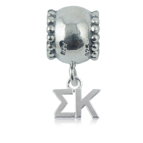 Sterling Silver Sigma Kappa Daisy Charm Bead