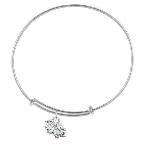 Sterling Silver Univ of South Carolina Charm Adjustable Bracelet